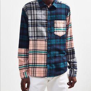 UO Patchwork Plaid Flannel Shirt